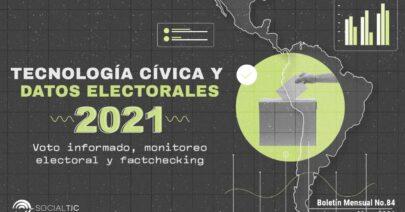 Elecciones 2021: panorama de tecnología cívica y datos abiertos